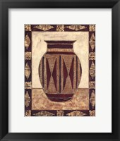 Framed Tribal Urn I