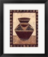 Tribal Urn II Framed Print