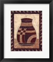 Tribal Urn III Framed Print