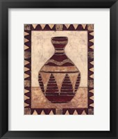 Tribal Urn IV Framed Print