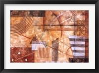 Framed Sienna Rhythm