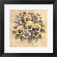 Framed Pansies