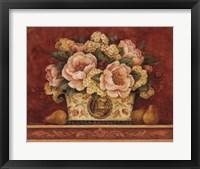 Peony Tapestry Framed Print