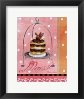 Pink Mousse Framed Print