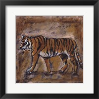 Safari Tiger Framed Print