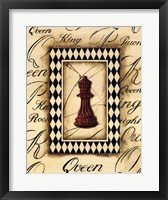 Framed Chess Queen