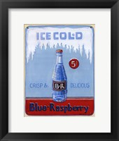 Blue Raspberry Framed Print