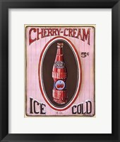 Cherry Cream Framed Print