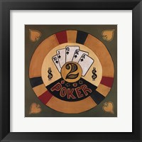 Poker - $2 Framed Print