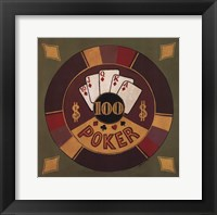 Framed Poker - $100