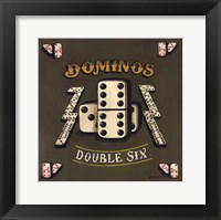 Dominos Framed Print