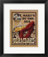 Clam Bake Framed Print