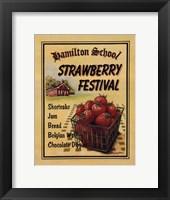 Strawberry Festival Framed Print