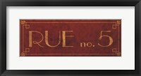 Rue No.5 Framed Print