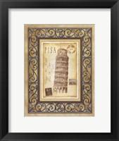 Framed Pisa Postcard