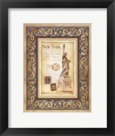 Framed New York Postcard