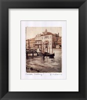 Gondola Waiting Framed Print