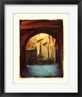 Framed Italian Lane I