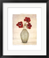 Three Anemones Framed Print
