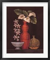Framed White Calla Lilies