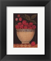 Cup O' Raspberries Framed Print