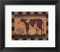 Farm Cow Framed Print