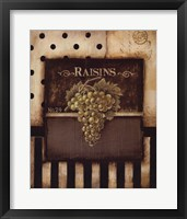 Raisins Framed Print