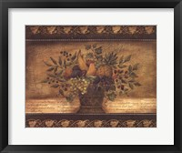 Old World Abundance I Framed Print