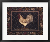Old World Rooster Framed Print