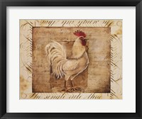 Framed Rustic Farmhouse Rooster I