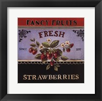 Framed Fresh Strawberries