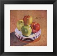 Four Apples Framed Print
