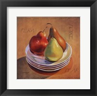 Framed Three Pears