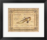 Framed Dancing Shoe
