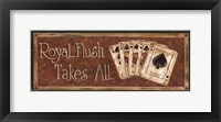 Framed Royal Flush Takes All