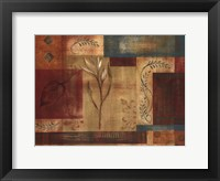 Abstract Floral I Framed Print