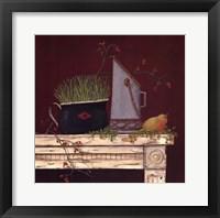 Farm Table Framed Print