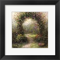 Framed Rose Arbour II
