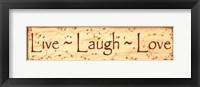 Framed Live, Laugh, Love