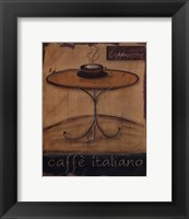 Framed Caffe Italiano