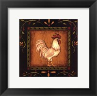 Framed Square Rooster Right