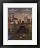 Framed Village with Sheep