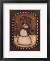 Framed Faith Snowman