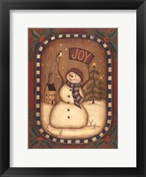 Framed Joy Snowman