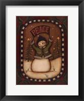 Peace Snowman Framed Print