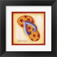 Red Flip Flop I Framed Print