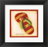 Red Flip Flop II Framed Print