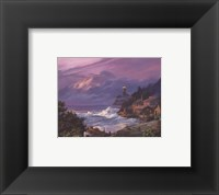 Sunset Fog Framed Print