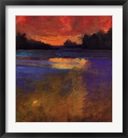 Framed Sunset Lake