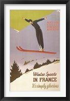 Framed Winter Sports in France